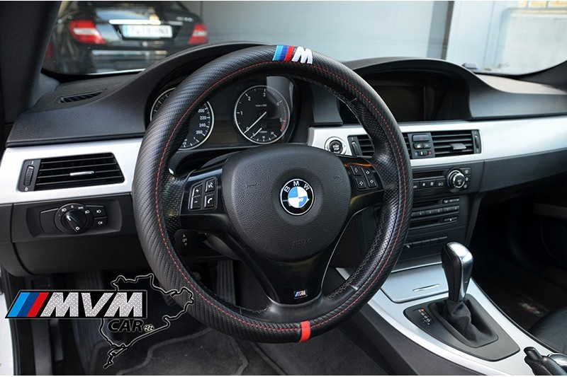 funda volante bmw m look fibra de carbono. Black Bedroom Furniture Sets. Home Design Ideas