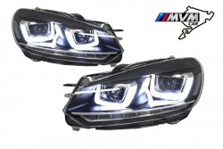 Faros delanteros Volkswagen Golf VI look Led
