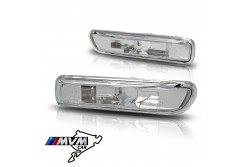 Set de intermitentes laterales para Bmw Serie 3 E46 transparentes