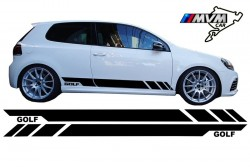 Vinilo lateral Golf Black para Volkswagen Golf V VI VII