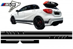 Vinilo lateral AMG Edition Black para Mercedes Clase A W176