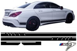 Vinilo lateral AMG Edition Black para Mercedes CLA W117