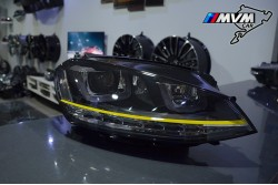 Faros delanteros Volkswagen Golf VII Led Yellow line
